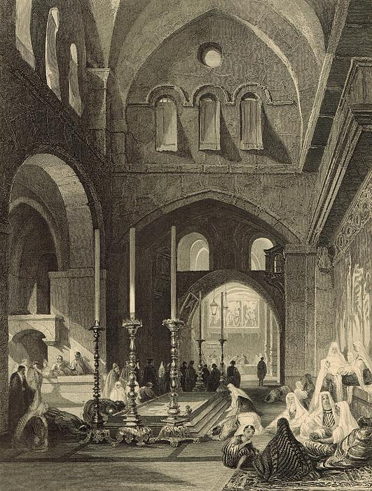 The Holy Sepulchre 1886 Engraving Print by Antique Engravings