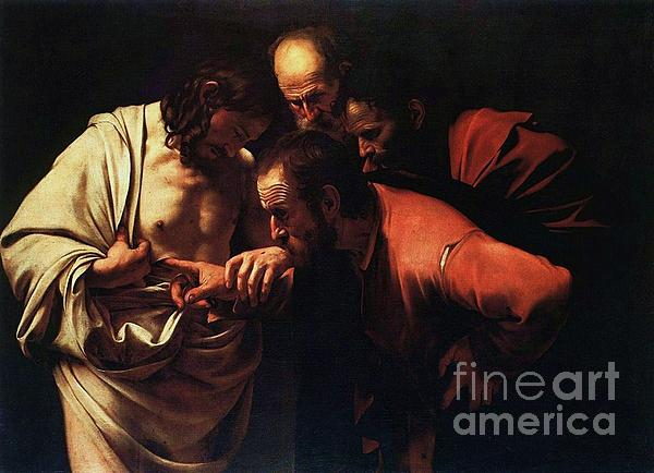 The Incredulity Of Saint Thomas Print by Pg Reproductions