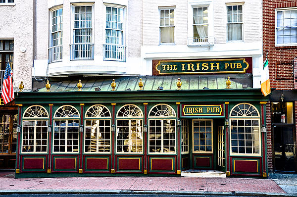 The Irish Pub - Philadelphia Print by Bill Cannon