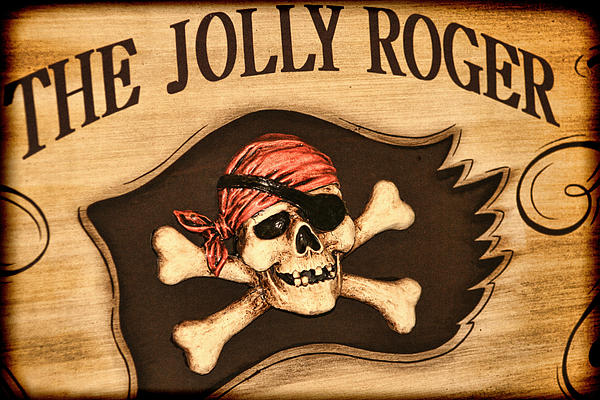 The Jolly Roger Print by Kathy Clark