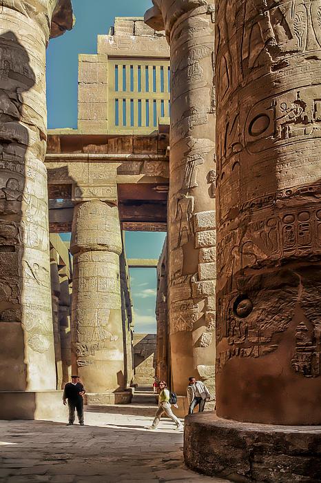 The Karnak Temple Print by Erik Brede