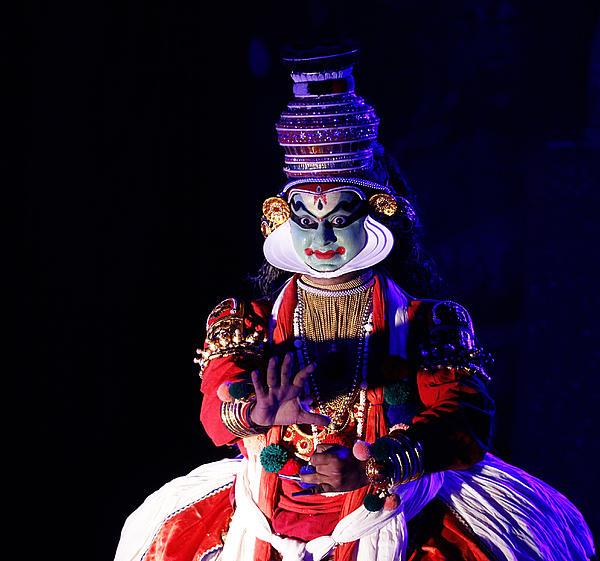 The Kathakali Dance Print by Money Sharma
