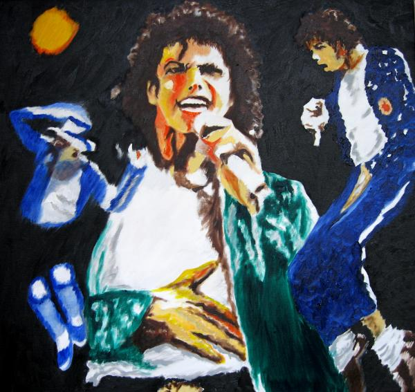 The King Of Pop Michael Jackson Print by Ronald Young