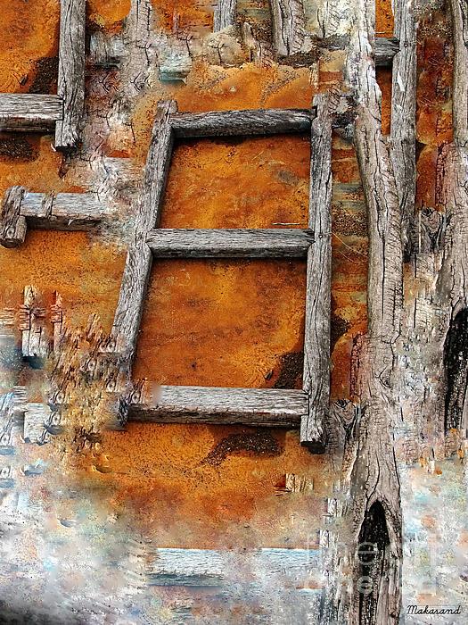 The Ladder Print by Makarand Purohit
