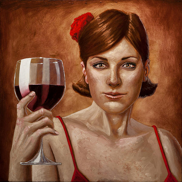 The Lady Red Print by Mark Zelmer
