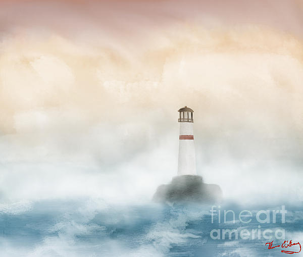 The Lighthouse Print by Thomas OGrady