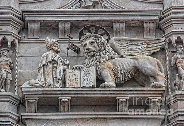 The Lion Of Saint Mark II Print by Lee Dos Santos