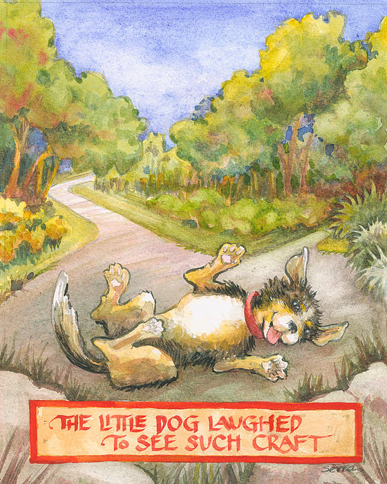 The Little Dog Laughed Print by Lora Serra