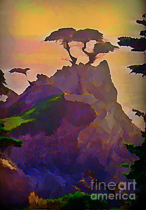 The Lone Cypress Print by John Malone