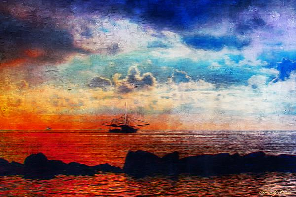 The Lonely Shrimper Print by Brian Lukas