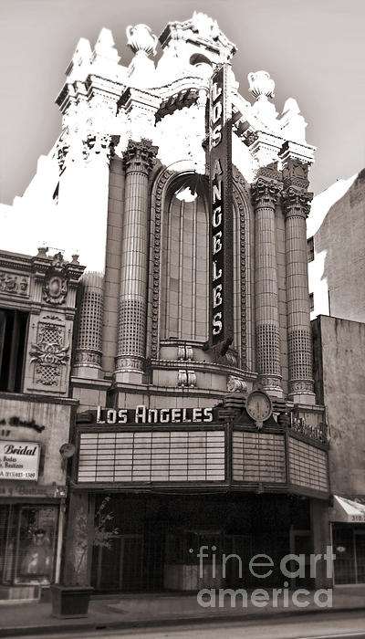 The Los Angeles Theatre - Black And White Print by Gregory Dyer
