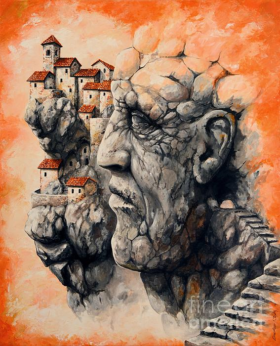 The Lost City - The Sentinel Print by Emerico Imre Toth
