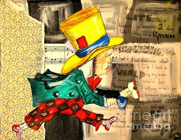 The Mad Hatter Print by Sabrina Phillips