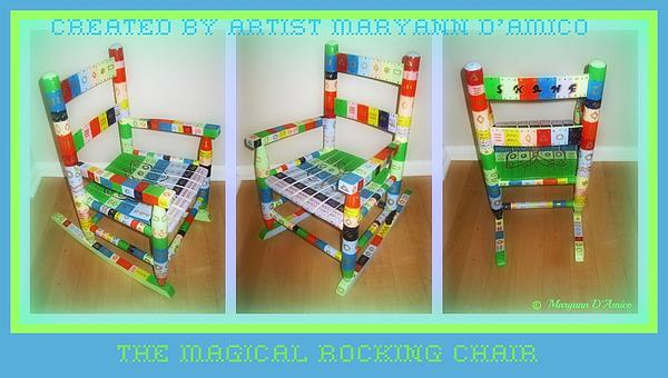 The Magical Rocking Chair Number Three Print by Maryann  DAmico