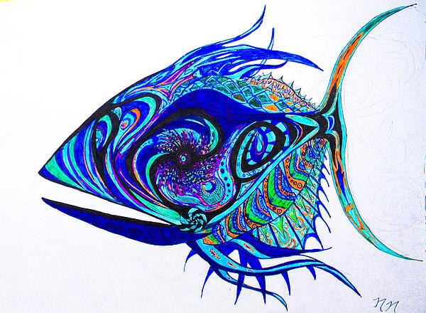 The Mind Aquarium Print by Nathan Newman