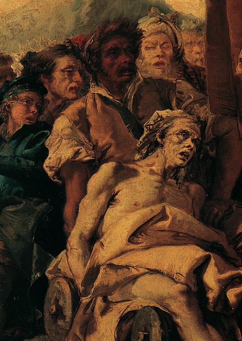 The Miracle Of The True Cross, 1750 - Print by Giandomenico Tiepolo
