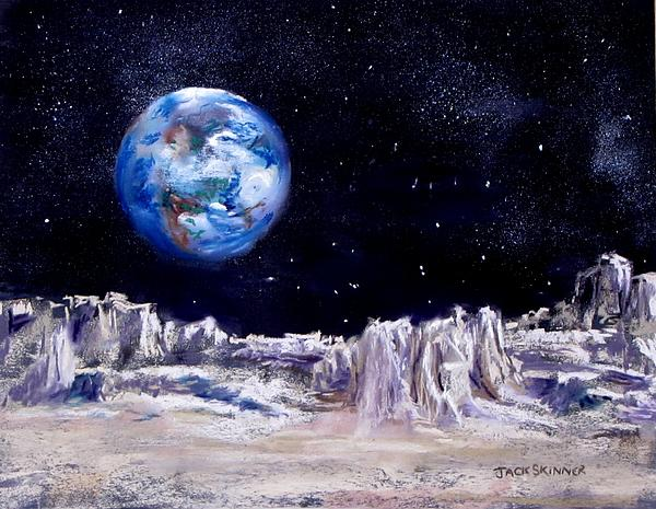 The Moon Rocks Print by Jack Skinner