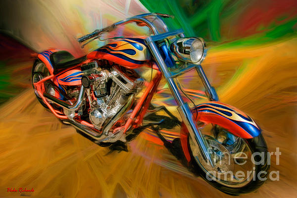 The Motorcyclerow Print by Blake Richards