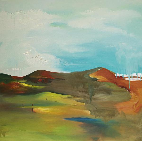 The Mountain Print by Joseph Demaree