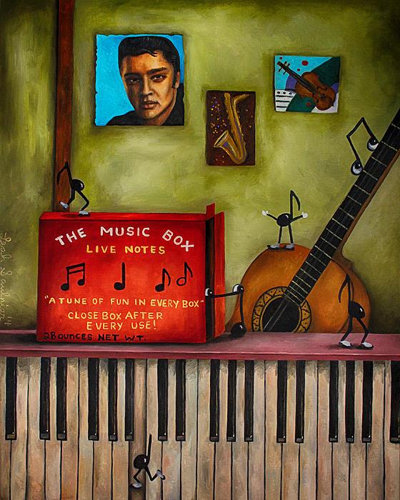 The Music Box Edit 3 Print by Leah Saulnier The Painting Maniac