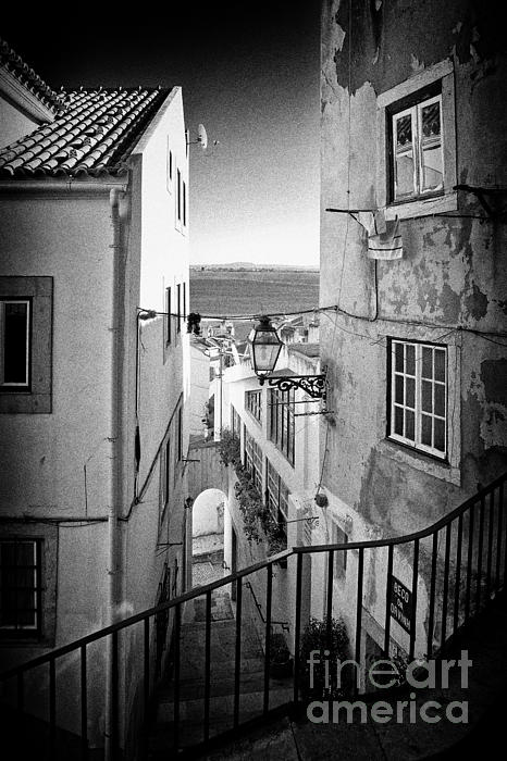 The Narrow Streets Of Alfama Print by Jose Elias - Sofia Pereira