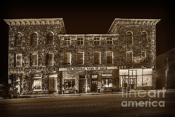 The National Bank Of Davis Wv Print by Dan Friend