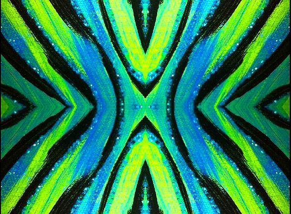 The Neon Zebra Print by Drew Goehring