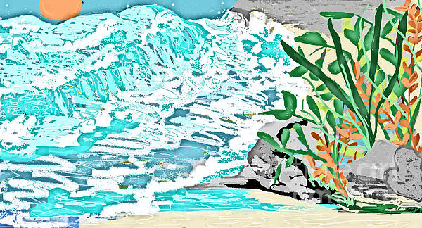 The Ocean Blues Print by Sherry  Hatcher