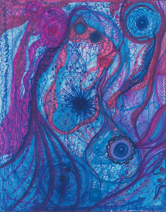 The Ocean's Blue Heart Print by Daina White