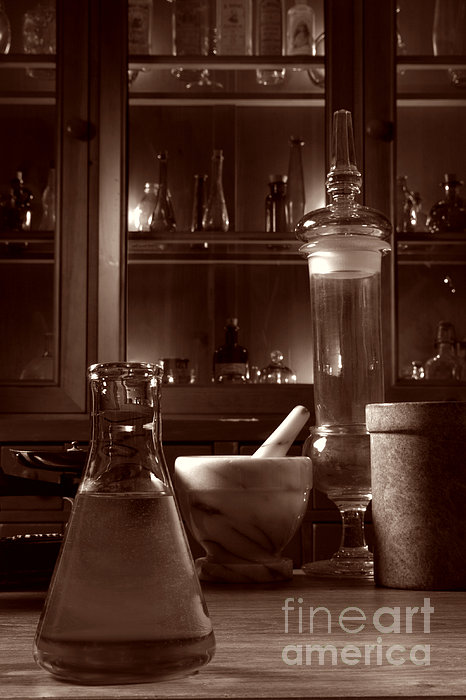 The Old Apothecary Shop Print by Olivier Le Queinec