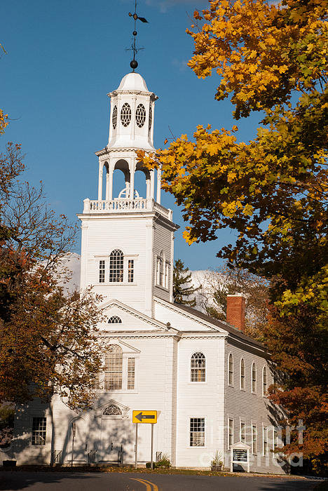 The Old First Church Battle Monument Hill Bennington Vermont Print by Robert Ford