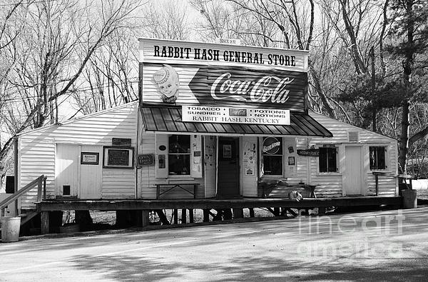 The Old General Store Bw Print by Mel Steinhauer