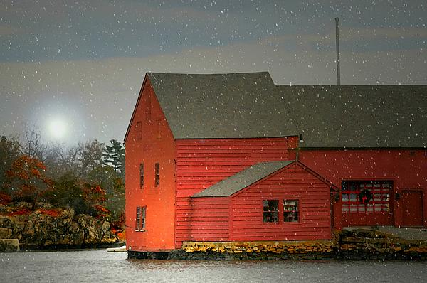 The Old Mill Kirby Pond Print by Diana Angstadt