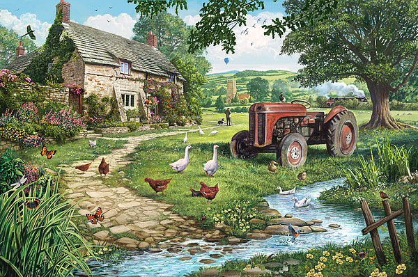 The Old Tractor Print by Steve Crisp