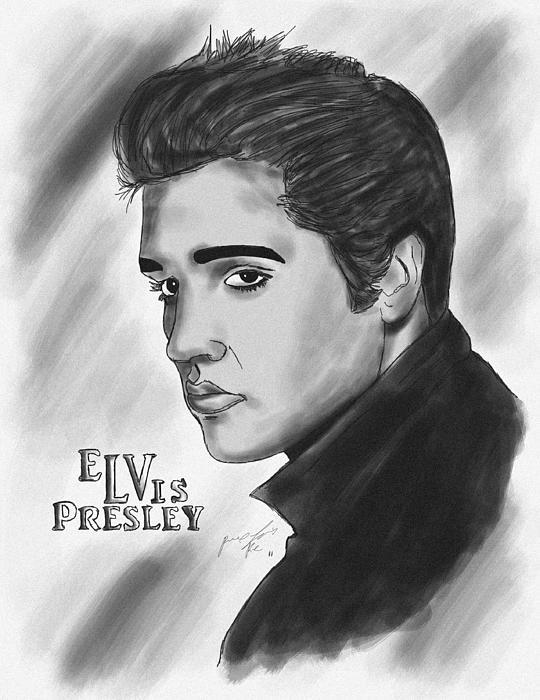 The Original Rockstar Elvis Presley Print by Kenal Louis