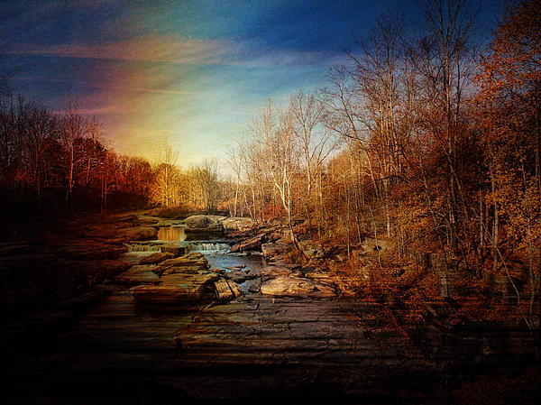 The Other Side-old Falls Ny Print by Pamela Phelps