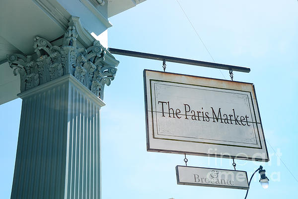 The Paris Market - Savannah Georgia Paris Market - Paris Macaron Shop - Parisian Brocante Shop Print by Kathy Fornal