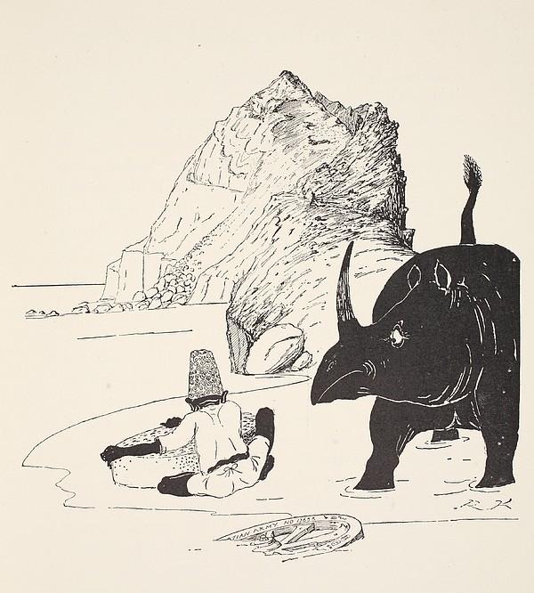 The Parsee Beginning To Eat His Cake Print by Joseph Rudyard Kipling