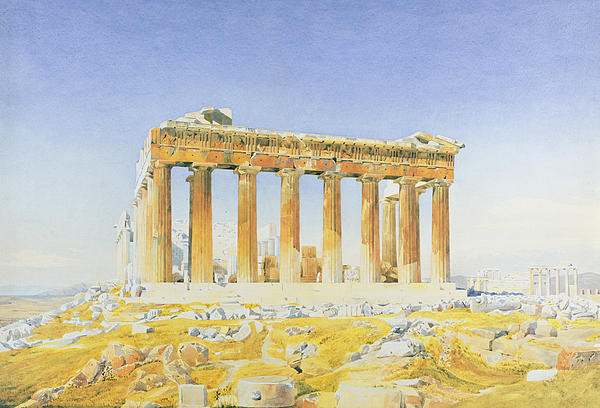 The Parthenon Print by Thomas Hartley Cromek