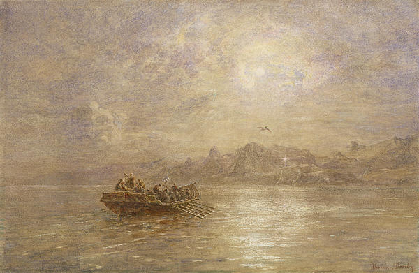 The Passing Of 1880 Print by Thomas Danby