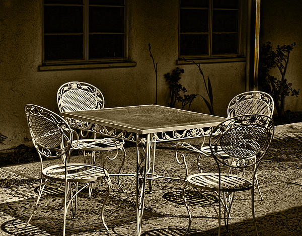The Patio Print by Camille Lopez