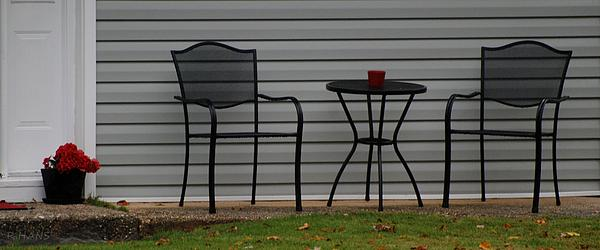 The Patio In Living Color Print by Rob Hans