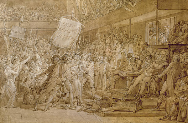The People Of Paris Storm The Tuileries Print by Francois Pascal Simon Gerard