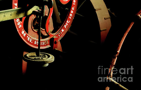 The Perfect Balance - Vintage Scales And Wheels Print by Steven Milner
