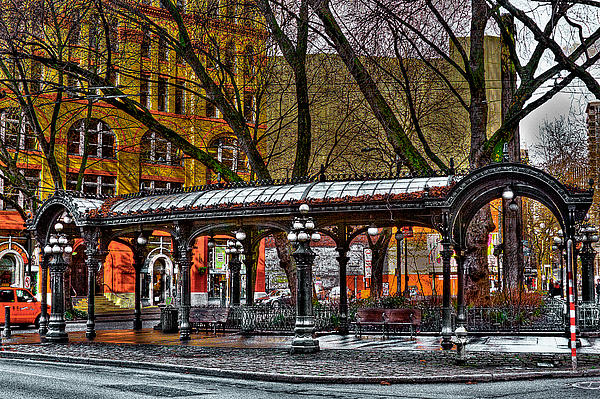 The Pergola In Pioneer Square - Seattle  Print by David Patterson