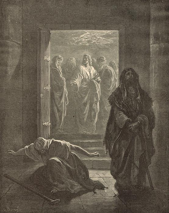 The Pharisee And The Publican Print by Antique Engravings