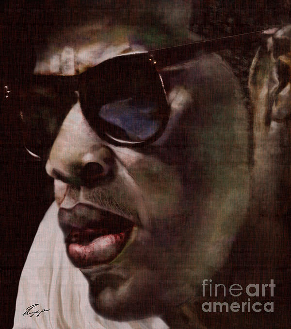 The Pied Piper Of Intrigue - Jay Z Print by Reggie Duffie