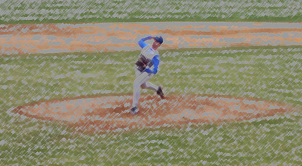 The Pitcher Digital Art Print by Thomas Woolworth