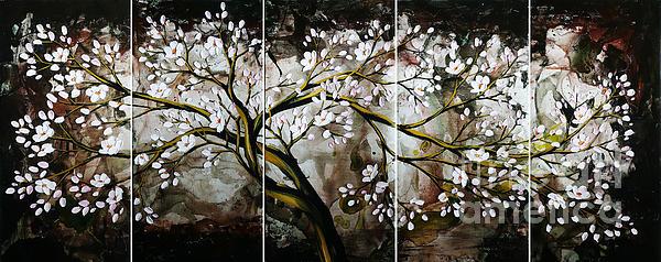 The Plum Blossom 001 Print by Willson Lau