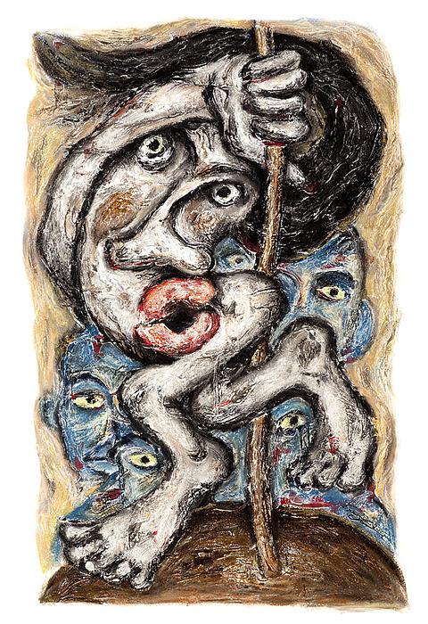 The Pole Dancer Print by Nalidsa Sukprasert